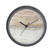 abstract chic white marble Wall Clock