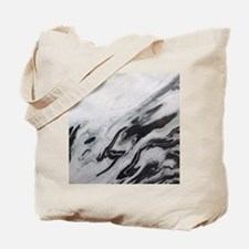 modern black white marble Tote Bag