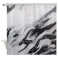 modern black white marble Shower Curtain