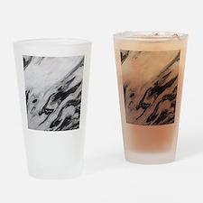 modern black white marble Drinking Glass