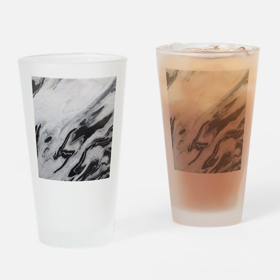 modern black white marble Drinking Glass