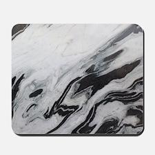 modern black white marble Mousepad