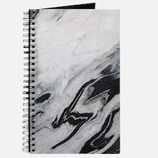modern black white marble Journal