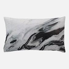 modern black white marble Pillow Case