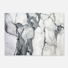 abstract chic white marble 5'x7'Area Rug