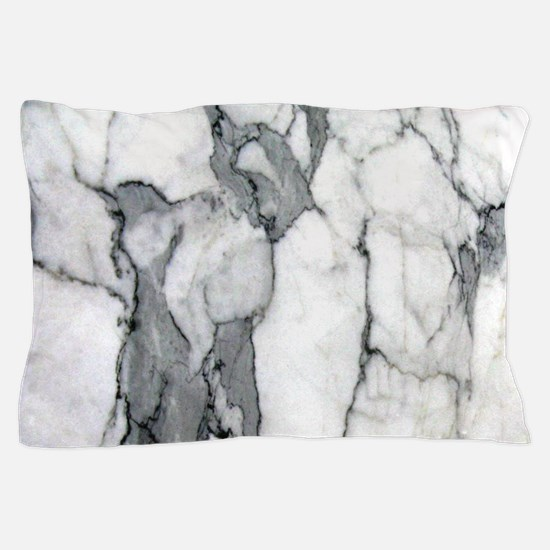 abstract chic white marble Pillow Case