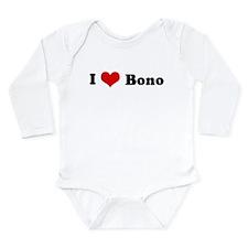 Heart design Long Sleeve Infant Bodysuit