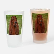 Irish Setter Head Study 3 Drinking Glass