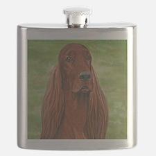 Irish Setter Head Study 3 Flask