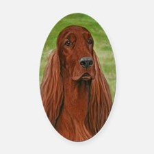 Irish Setter Head Study 3 Oval Car Magnet