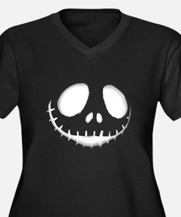 Unique Pregnant halloween Women's Plus Size V-Neck Dark T-Shirt