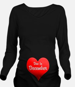 Due In Personalized Long Sleeve Maternity T-Shirt