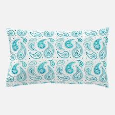 Unique Aqua paisley Pillow Case