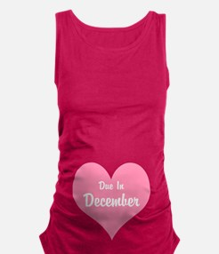 Due In Personalized Maternity Tank Top