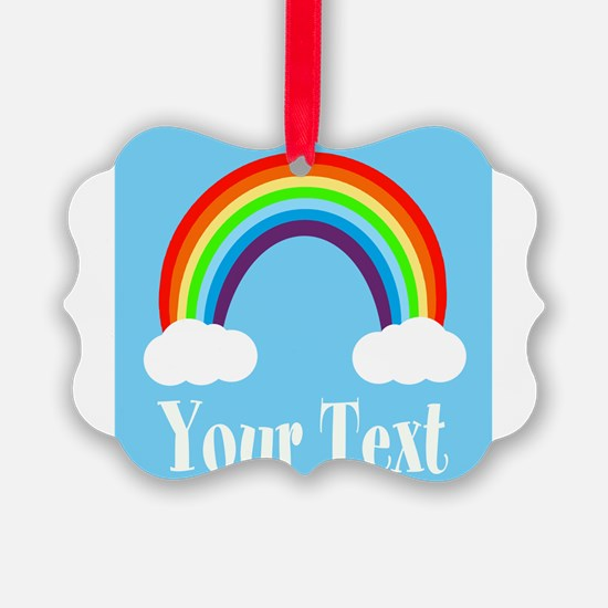 Personalizable Rainbow Ornament