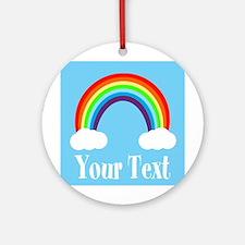 Personalizable Rainbow Round Ornament