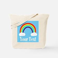 Personalizable Rainbow Tote Bag