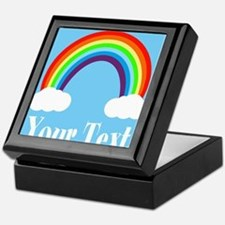 Personalizable Rainbow Keepsake Box