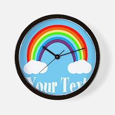 Personalizable Rainbow Wall Clock