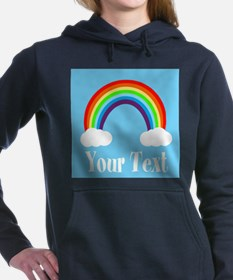 Personalizable Rainbow Women's Hooded Sweatshirt