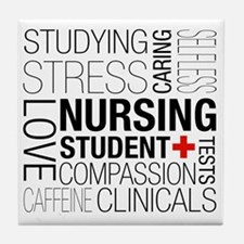 Nursing Student Box Tile Coaster