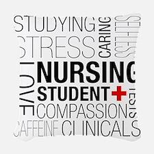 Nursing Student Box Woven Throw Pillow