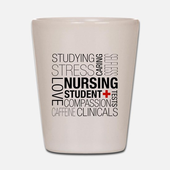 Nursing Student Box Shot Glass
