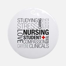 Nursing Student Box Round Ornament