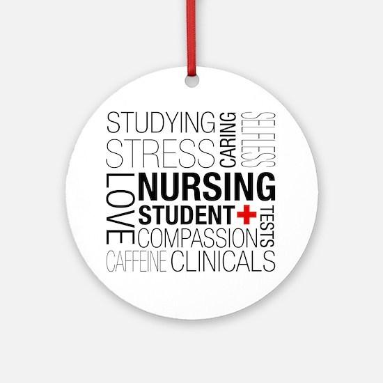 Nursing Student Box Round Ornament