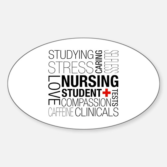 Nursing Student Box Sticker (Oval)