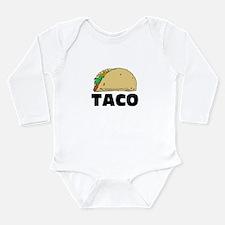 Funny Taco Long Sleeve Infant Bodysuit