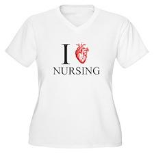 I Heart Nursing Plus Size T-Shirt