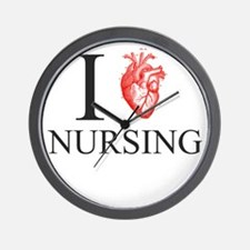 I Heart Nursing Wall Clock