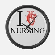 I Heart Nursing Large Wall Clock