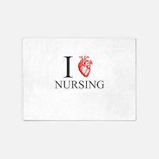 I Heart Nursing 5'x7'Area Rug