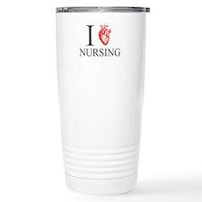 I Heart Nursing Travel Mug