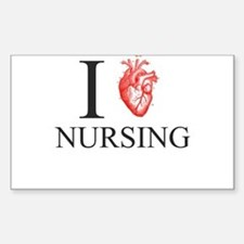 I Heart Nursing Decal