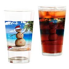 J Rowe Sandman Snowman Drinking Glass