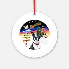 Xsigns-Boston Terrier Round Ornament