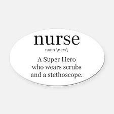 nurse definition two Oval Car Magnet