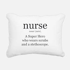 nurse definition two Rectangular Canvas Pillow