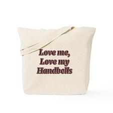 Love Me, Love My Handbells Tote Bag