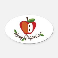 Buy Organic Oval Car Magnet