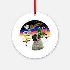 Xsigns-English Bull Mastiff Round Ornament