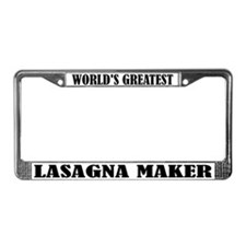 Funny Lasagna Maker License Plate Frame