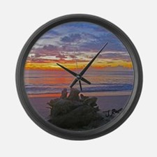 J Rowe Juno Beach, FL Large Wall Clock