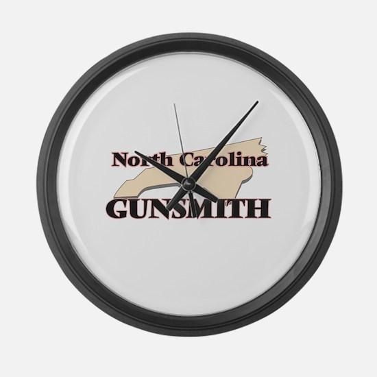 North Carolina Gunsmith Large Wall Clock