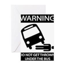 Unique Bus Greeting Card