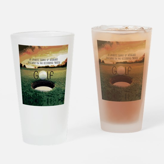 The Miracle of Golf Drinking Glass