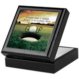 Mens golf Square Keepsake Boxes